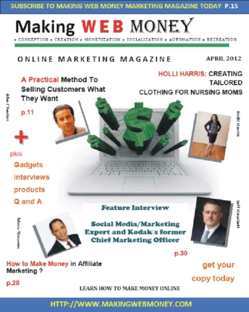 Making Web Money Online Magazine April 2012