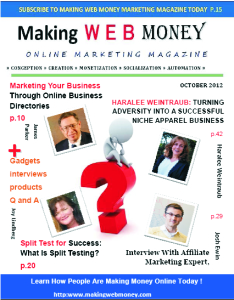 Making Web Money Online Digital Marketing Magazine October 2012