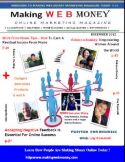 Making Web Money Dec 2012