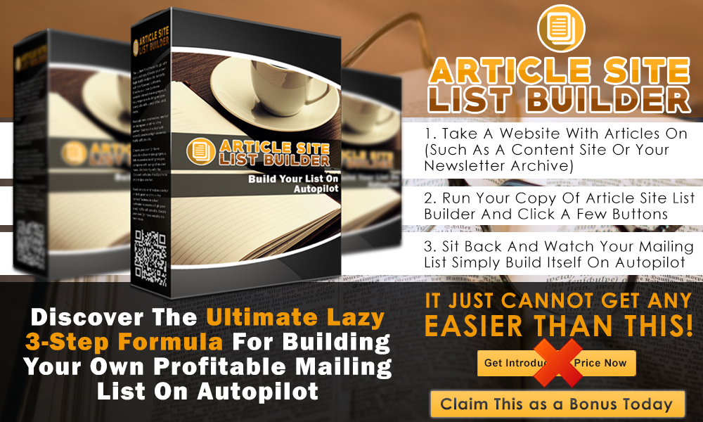 Article Site List Builder Info Graphic