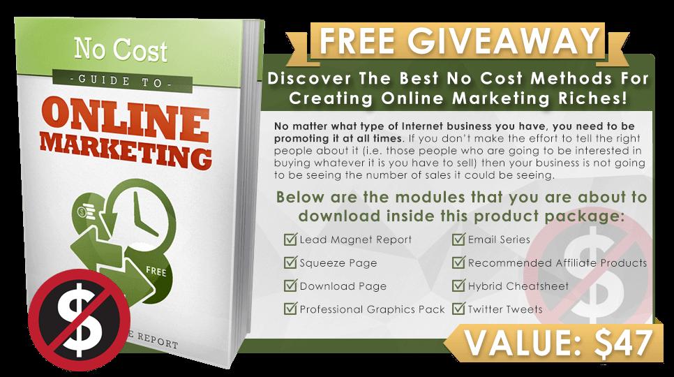 No Cost Online Marketing