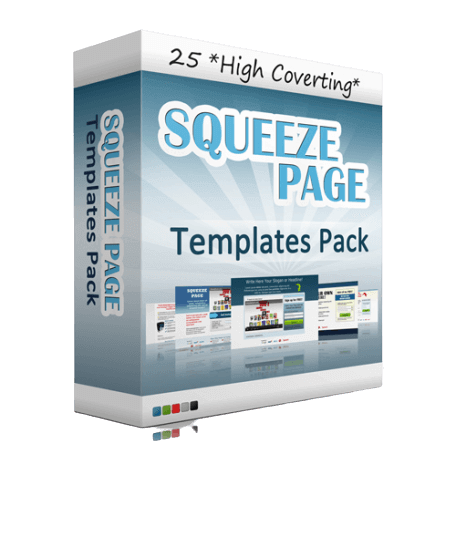 25 Squeeze Page Templates pack
