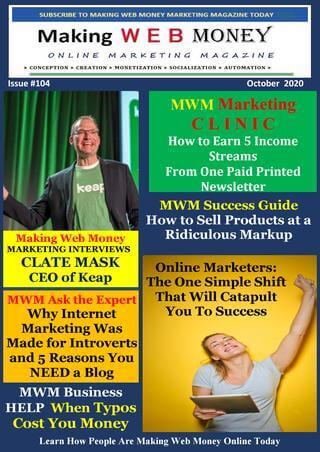 Making Web Money OCTOBER 2020